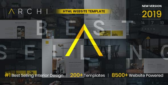 Archi - Interior Design Website Template