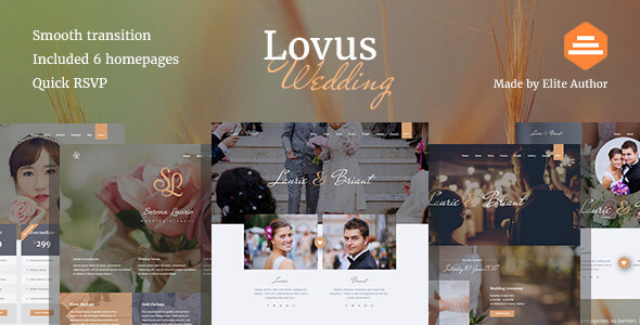 Lovus - Wedding Website Template