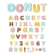 Donut Icing Latters, Font of Donuts. Bakery Sweet - GraphicRiver Item for Sale