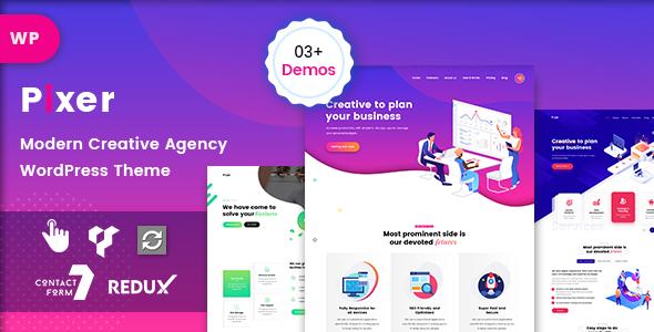 Pixer – Creative Digital Agency WordPress Theme Free Download