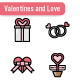 Valentines and Love Icon Set - GraphicRiver Item for Sale