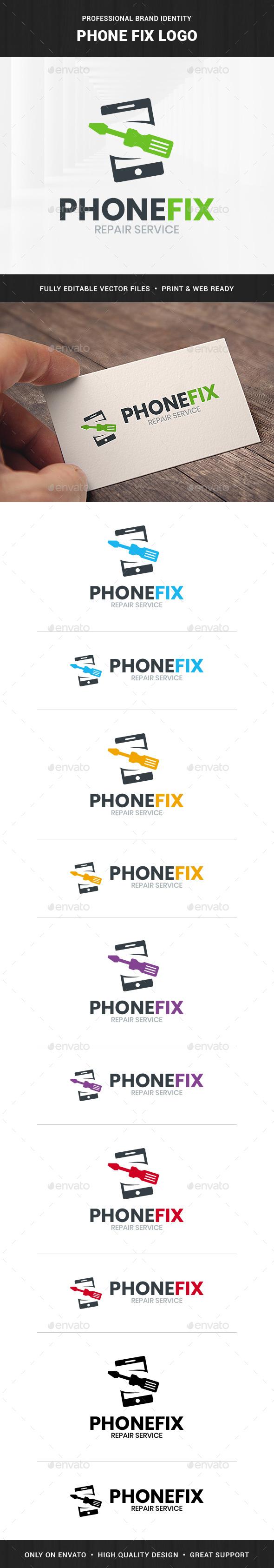 Phone Fix Logo Template