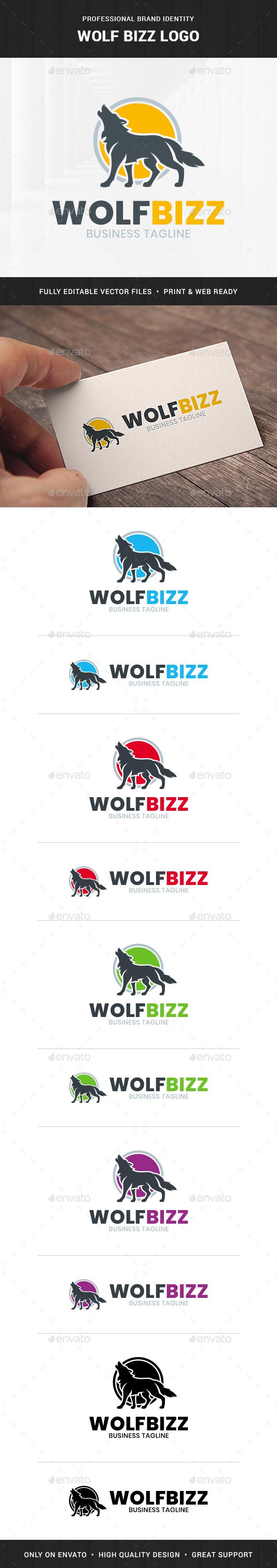 Wolf Bizz Logo Template