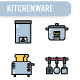 Kitchenware Icon Set - GraphicRiver Item for Sale