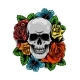Skull Wrapped in Roses, Flowers and Leaves - GraphicRiver Item for Sale