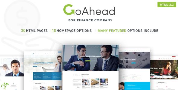 Finance Startup Template | GoAhead