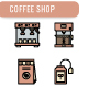 Coffee shop Icon Set - GraphicRiver Item for Sale