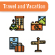 Travel and Vacation Icon Set - GraphicRiver Item for Sale