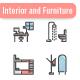 Interior and Furniture Icon Set - GraphicRiver Item for Sale