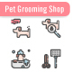 Pet Grooming Shop Icon Set - GraphicRiver Item for Sale