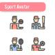 Sport Avatar Icon Set - GraphicRiver Item for Sale