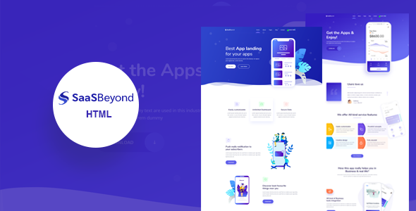 SassBeyond - Sass & Software Landing Page Template