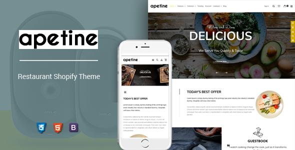 Apetine - Responsive Food & Restaurant Shopify