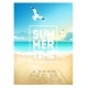 Summer Beach Background with Sea Sky and Seagulls - GraphicRiver Item for Sale