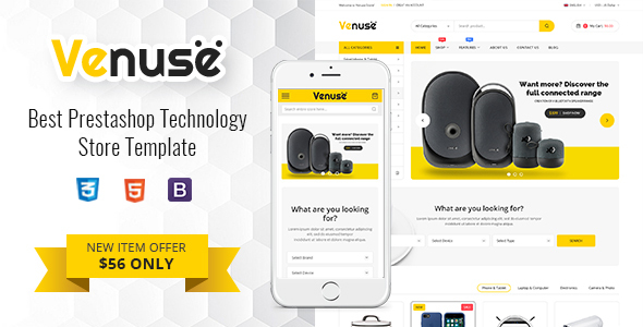 Venuse - Premium Responsive PrestaShop 1.7 Digital Theme
