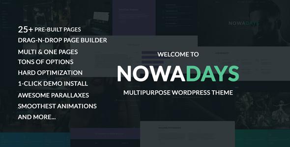 NowaDays - Multipurpose One/Multipage WordPress Theme
