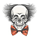 Human Skull in Professor Glasses and Red Bow Tie - GraphicRiver Item for Sale