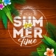 Summer Paradise Holiday Design with Flower - GraphicRiver Item for Sale