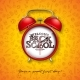 Back to School Design with Red Alarm Clock - GraphicRiver Item for Sale