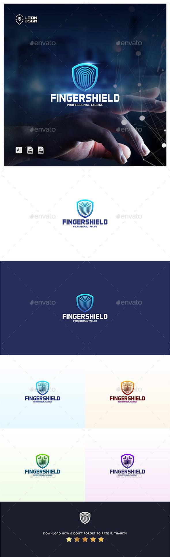 Fingershield Logo Template