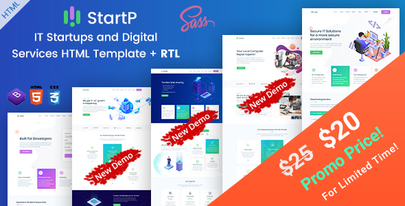 StartP - IT Startups and Digital Services HTML Template