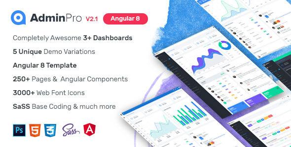 AdminPro Angular 8 Dashboard Template