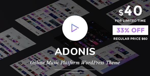 Adonis | Music Platform WordPress Theme