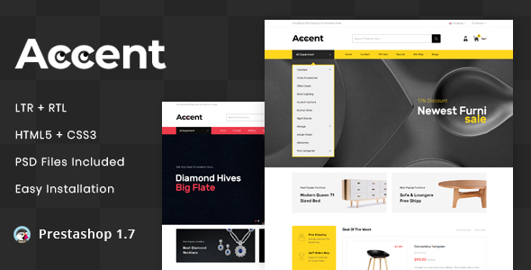 Accent - MultiPurpose Prestashop 1.7 Responsive Theme