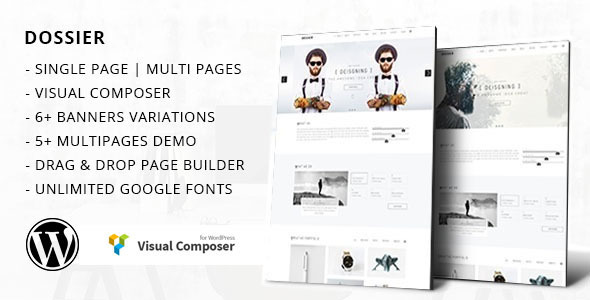 Dossier - Business Portfolio WordPress Theme