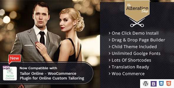 Alteration Shop - WordPress WooCommerce Theme for Tailors