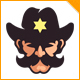 Good Sheriff Mustache Logo - GraphicRiver Item for Sale