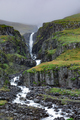 Nameless waterfall at mountain side East iceland - PhotoDune Item for Sale