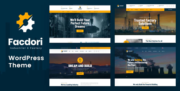 Facdori - Factory and Industrial Business WordPress Theme