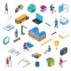 School and Education Isometric Icon Set 01 - GraphicRiver Item for Sale