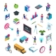 School and Education Isometric Icon Set 02 - GraphicRiver Item for Sale