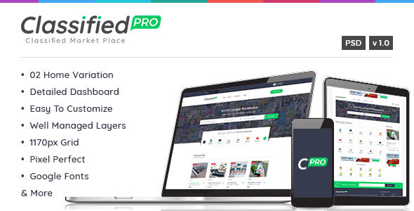 Classified Pro - Listing PSD Template