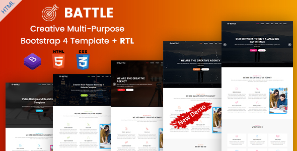 Battle | Multi-Purpose Agency Portfolio HTML Template