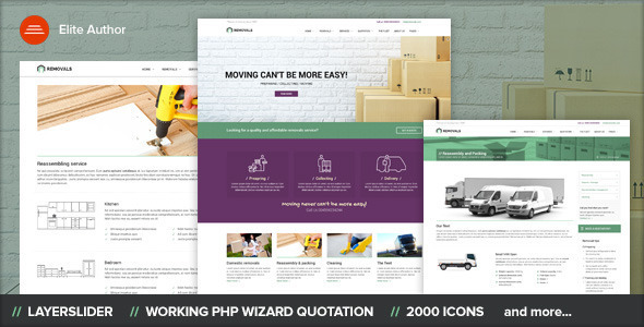REMOVALS - Moving WordPress Theme