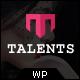 Talents -  Model Agency WordPress CMS Theme - ThemeForest Item for Sale