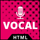 Vocal - Voice Over artist HTML Website Template - ThemeForest Item for Sale