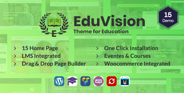 Eduvision - Online Course Multipurpose Education WordPress Theme