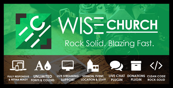 Wise Church | Multi-Purpose Online Ministry WordPress Theme