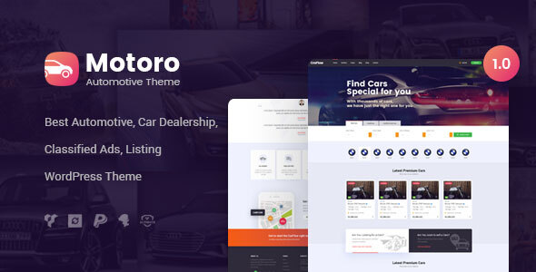 Motoro - Automotive Car Dealer WordPress Theme