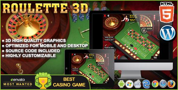 3D Roulette - gra kasynowa HTML5