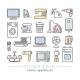 Home Appliances Linear Icon Set - GraphicRiver Item for Sale