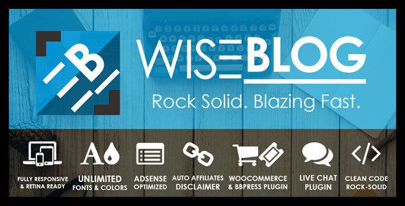 Wise Blog | Multi-Purpose AdSense Optimized WordPress Theme