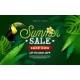 Summer Sale Design with Flower and Toucan Bird - GraphicRiver Item for Sale