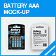 Battery AAA Mock-up - GraphicRiver Item for Sale