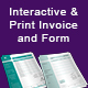 Interactive & Print Invoice and Form - GraphicRiver Item for Sale