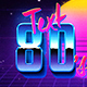 80's Retro Text Effects - GraphicRiver Item for Sale